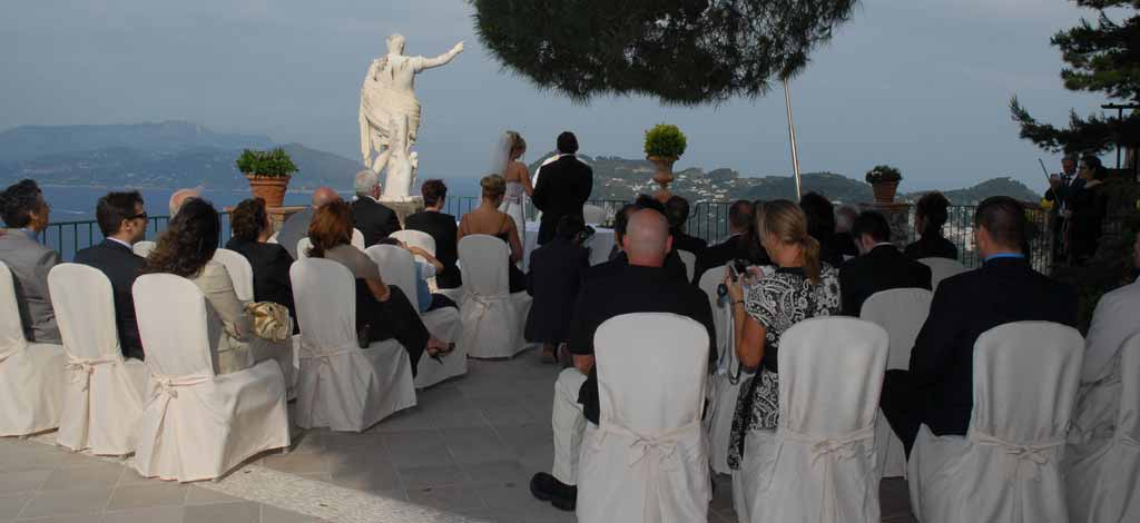 Outdoor wedding in capri