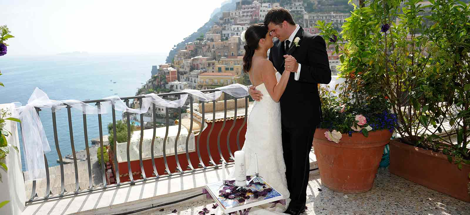 Where To Get Married In Italy: Wedding In Positano: Villa, Beach And Church Weddings In