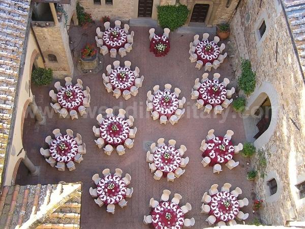 Arranging weddings in Italian castles.