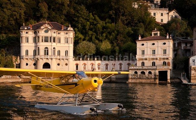 Guests on seaplane
