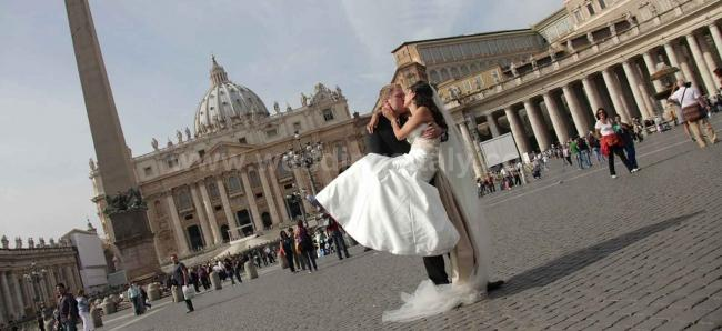 Getting married in Rome a dream becomes reality