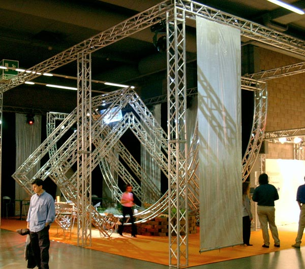 technical structures trestles octanorm aluminium rent for events sets up. Black Bedroom Furniture Sets. Home Design Ideas