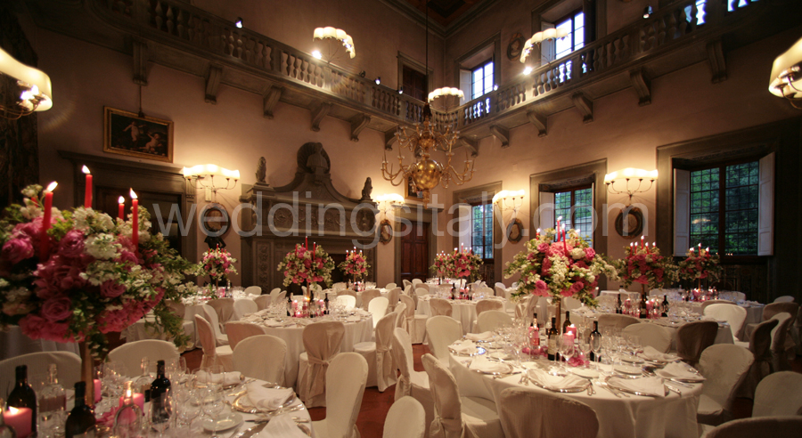 Indoor receptions wedding flower arrangements wedding reception flowersflower arrangements for an indoor wedding reception in italy junglespirit Images