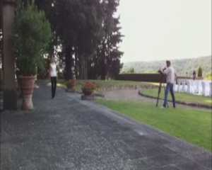 recording backstage in tuscany