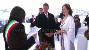 Legal wedding on the Alps.