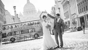 Catholic ceremony and villa reception