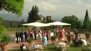 Wedding party in an Italian castle