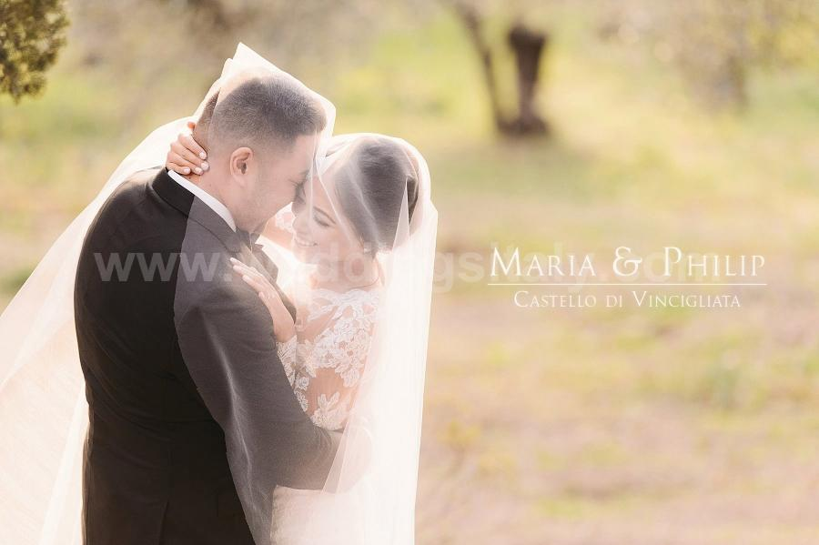 Maria and Philip Wedding in Tuscany at Vincigliata Castle