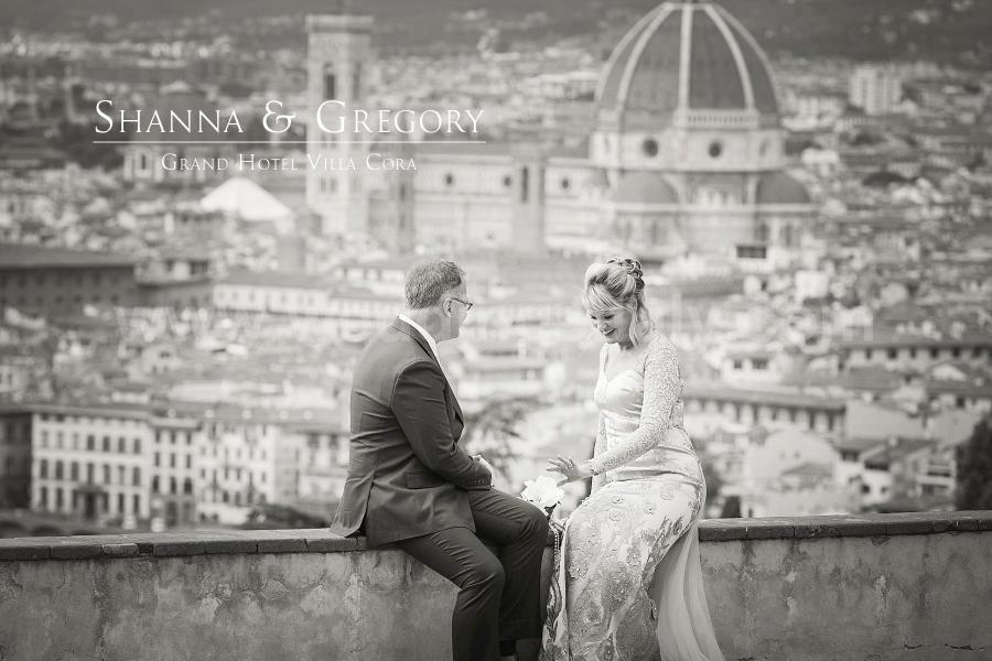 Shanna and Gregory Wedding in Florence at Hotel Villa Cora