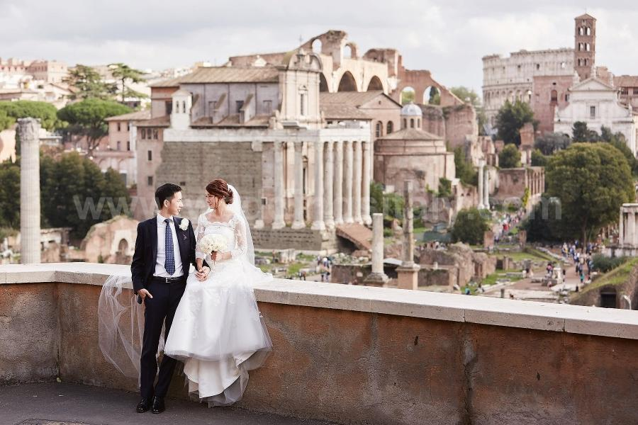 Silvia and Man Wedding in Rome